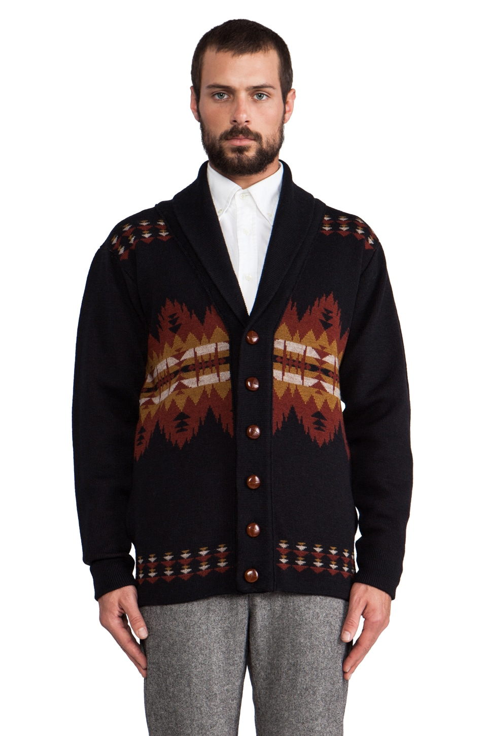The Portland Collection by Pendleton Sonora Camping Sweater in Navy Multi