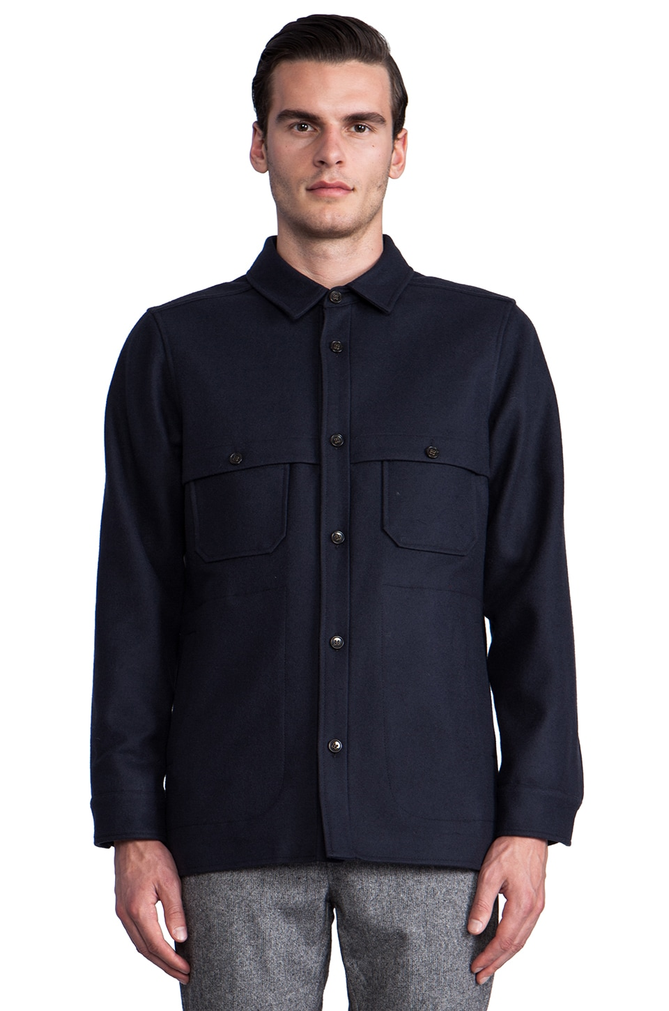 The Portland Collection by Pendleton Scappoose Overshirt in Navy