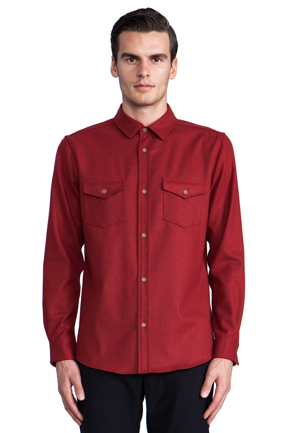 The Portland Collection by Pendleton Government Camp Shirt in Red Mix Umatilla