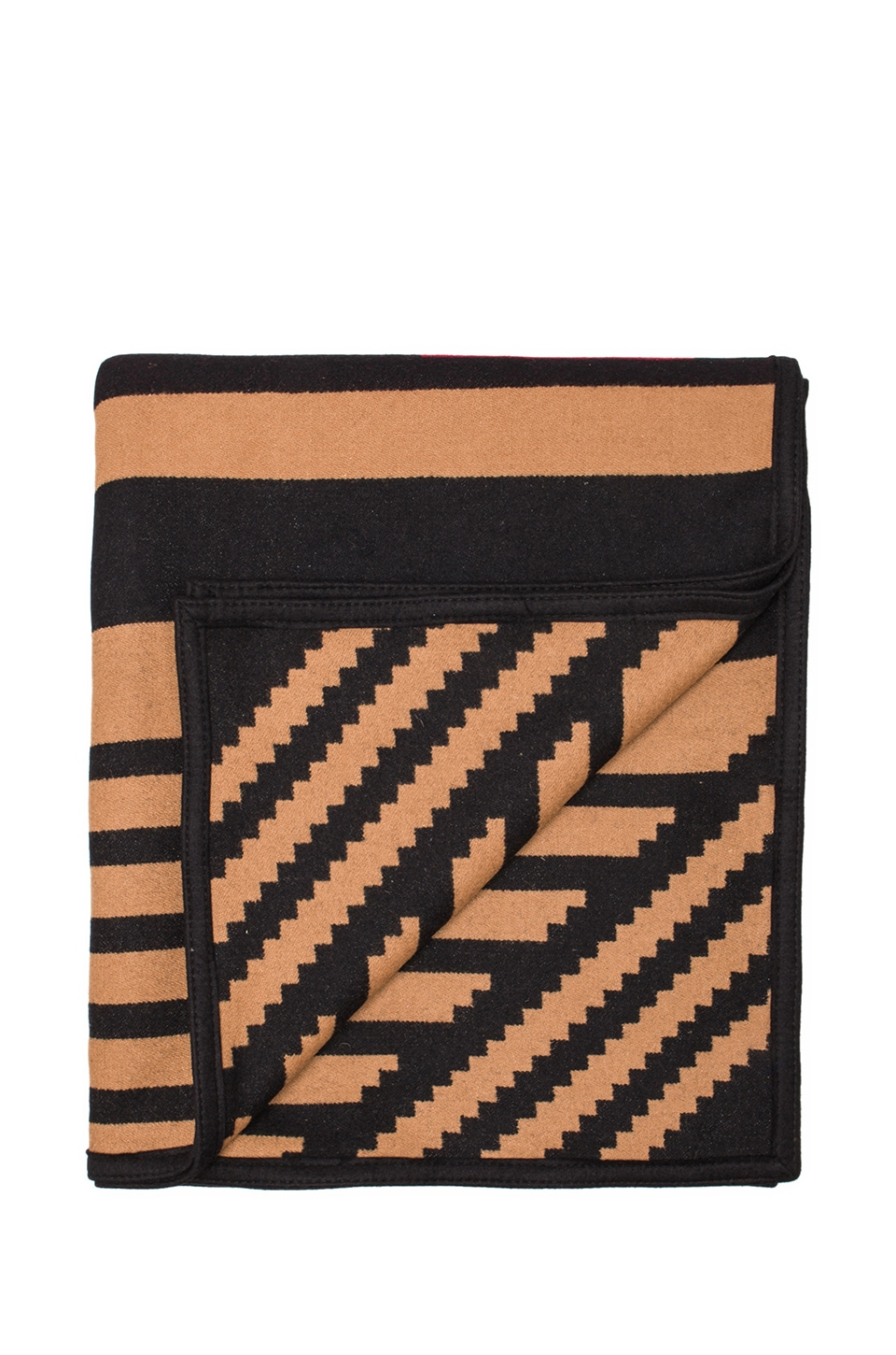 The Portland Collection by Pendleton Pinyon Stripe Robe Blanket in Black
