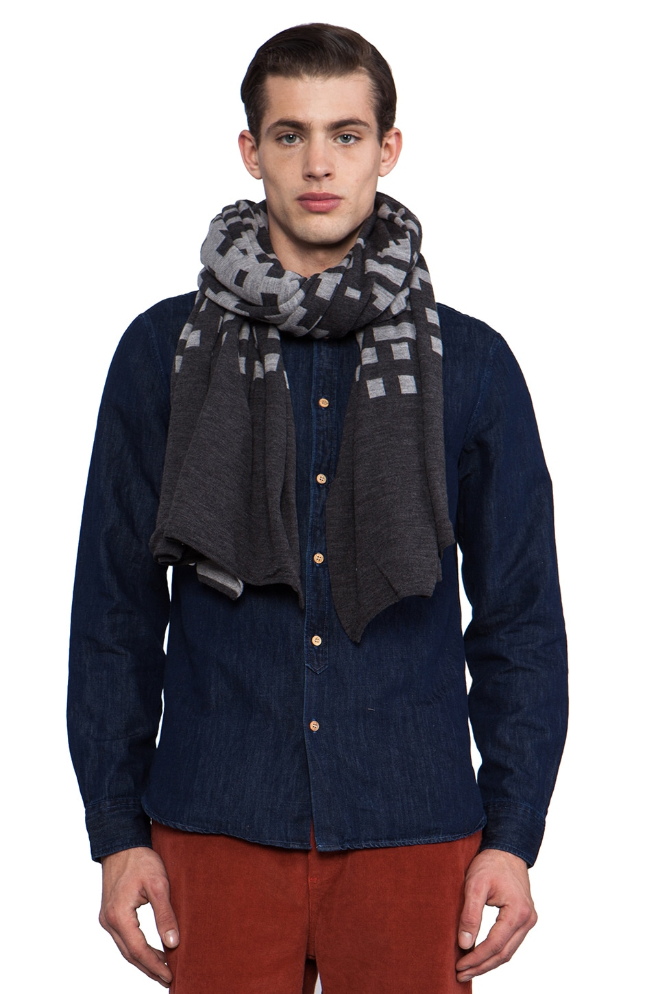 The Portland Collection by Pendleton Pilot Rock Knit Wrap in Slate