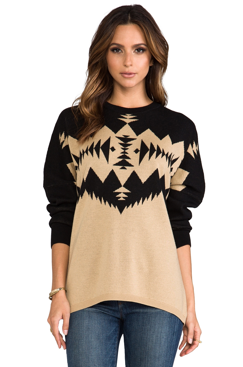 The Portland Collection by Pendleton Clatskanie Pullover in Black Multi