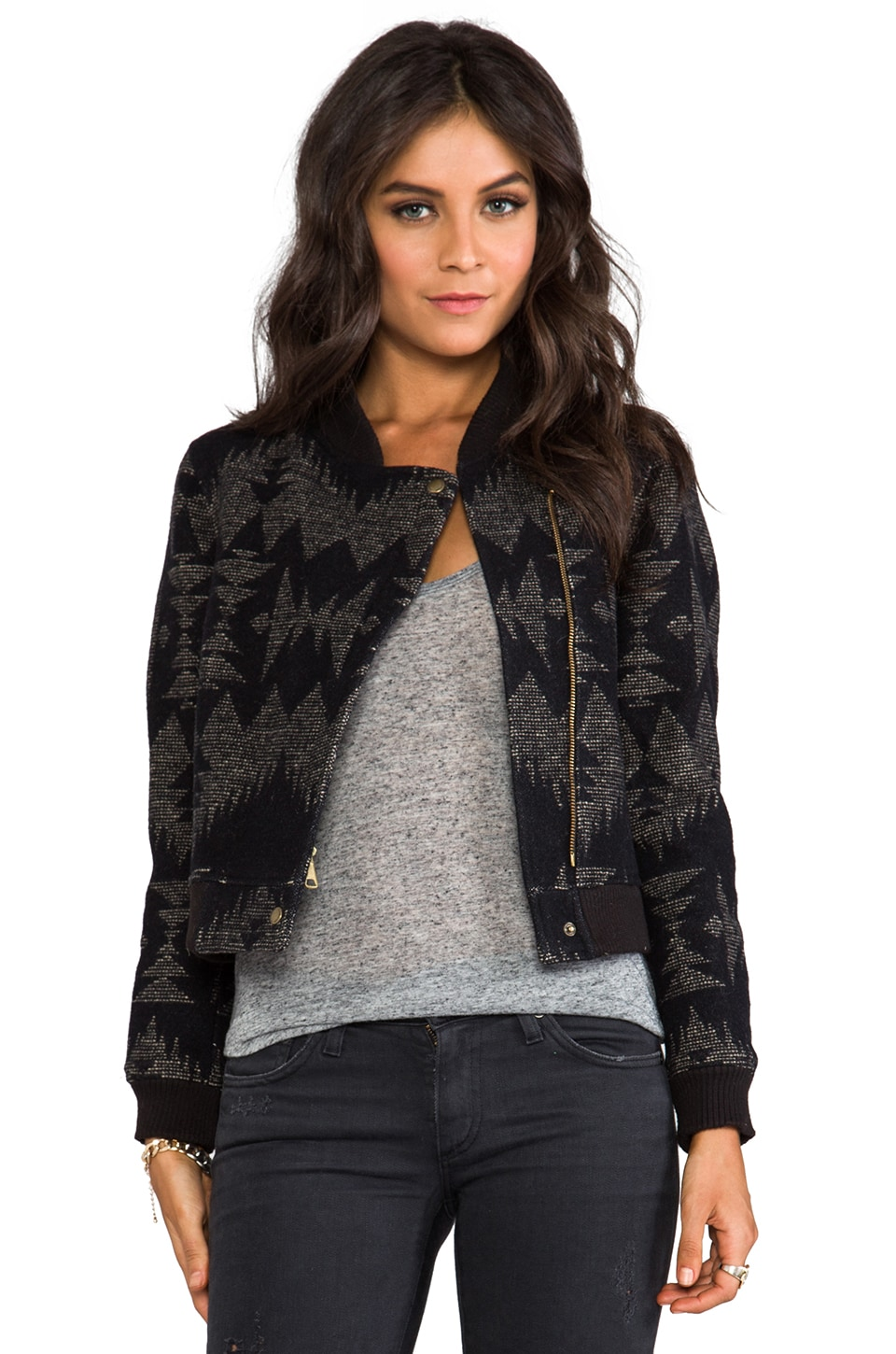 The Portland Collection by Pendleton Siletz Jacket in Black Sonora