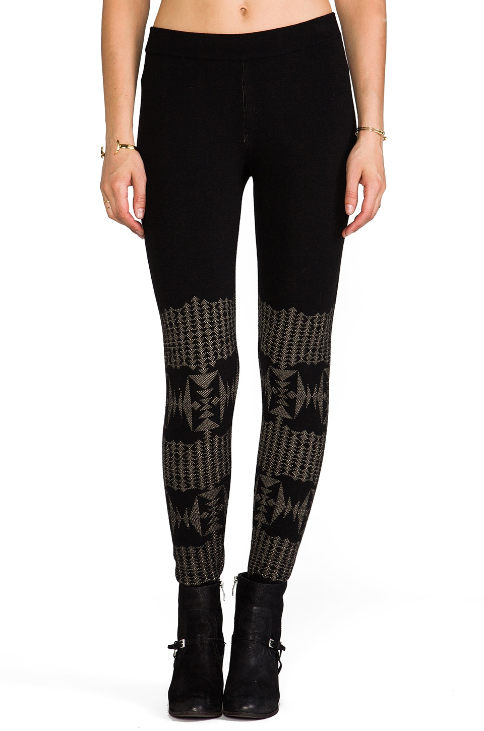 The Portland Collection by Pendleton Chiloquin Legging in Black/Tan