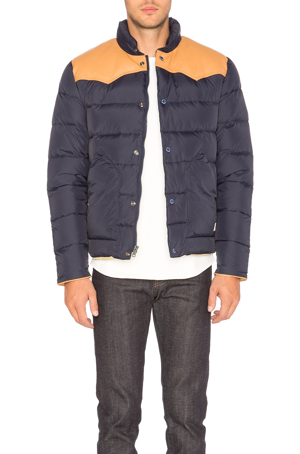 Pelam Leather Yoke Down Jacket by Penfield