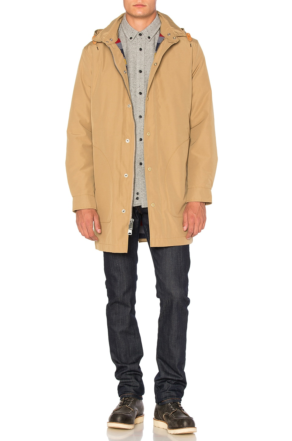 Penfield Ashford Insulated Rain Jacket in Tan | REVOLVE