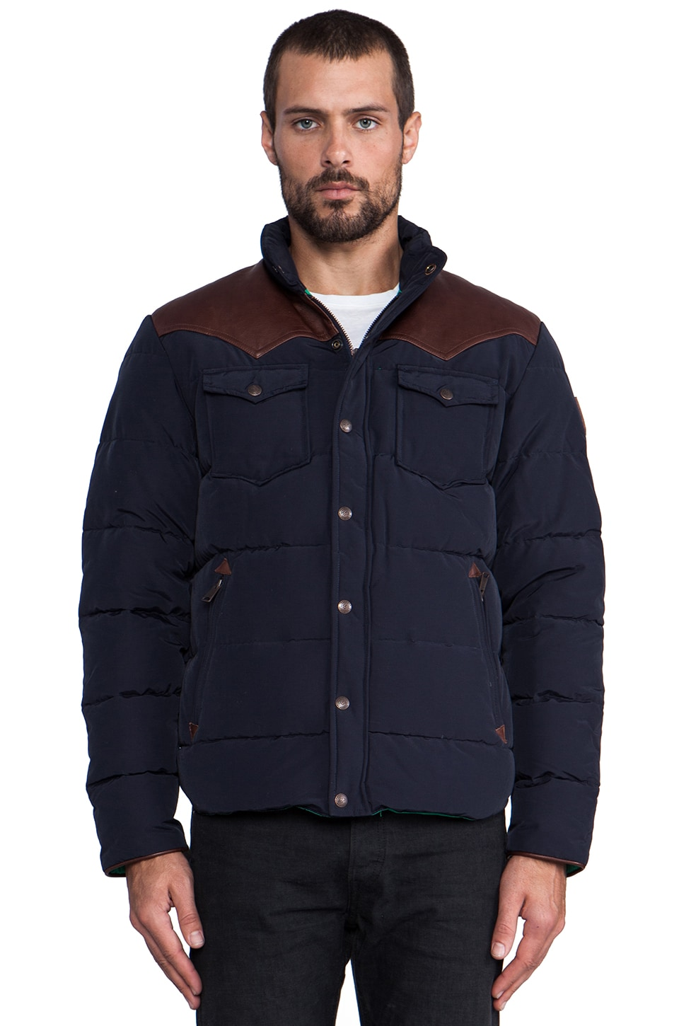 Penfield Stapleton Down Jacket in Navy