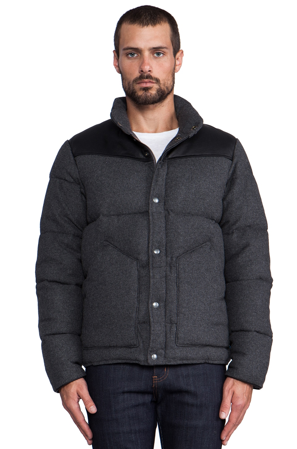 Penfield Blue Label Gillman Melton Insulated Jacket in Grey