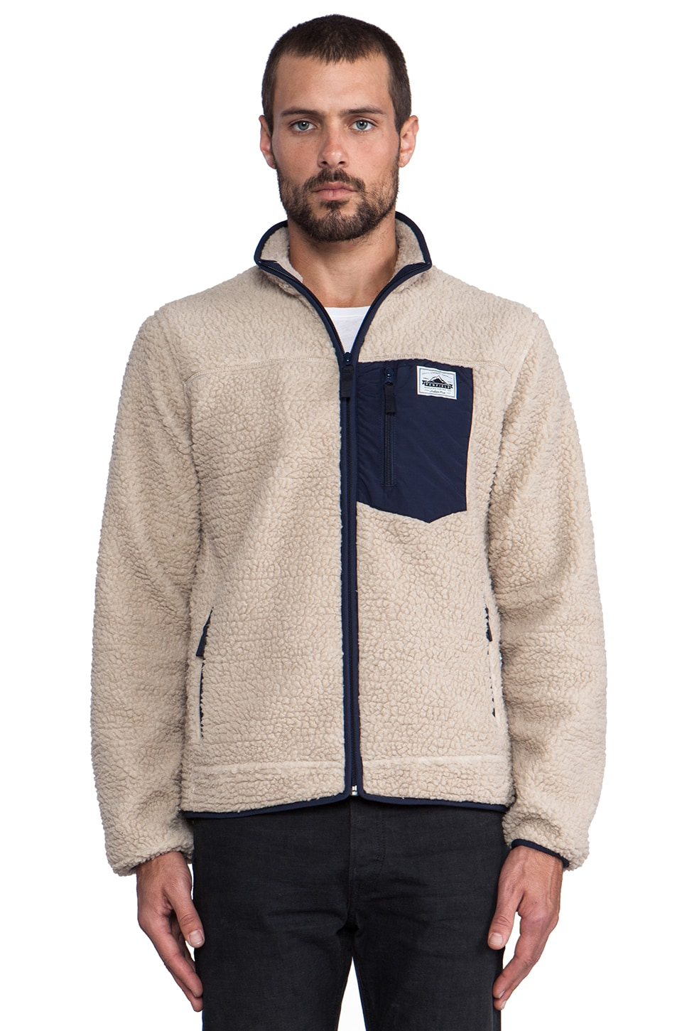 Penfield Lavic Pile Fleece Jacket in Tan