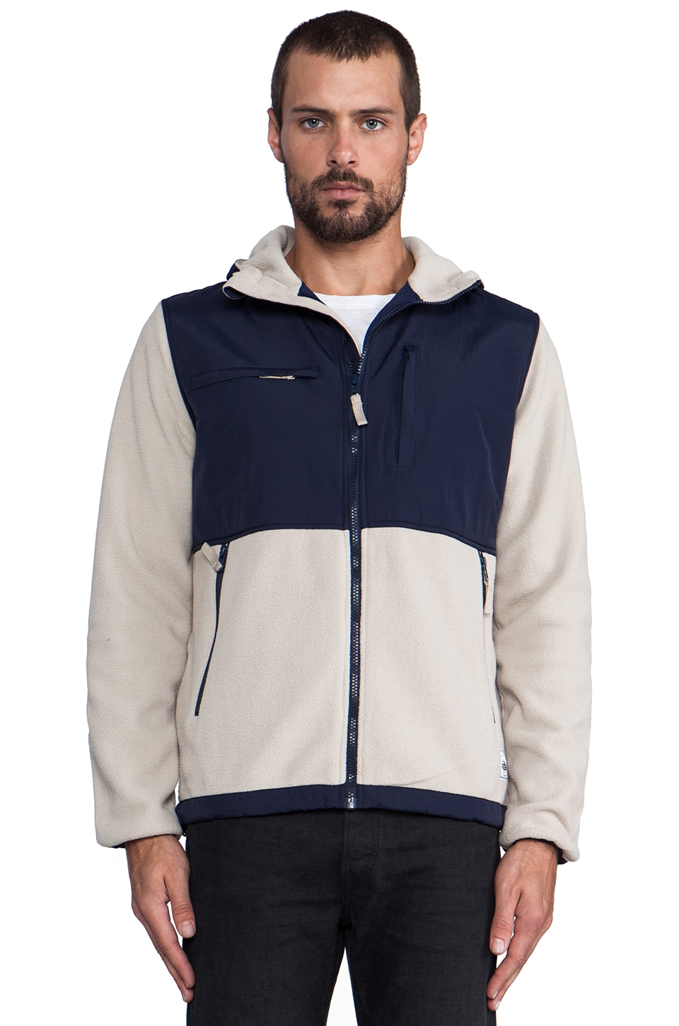 Penfield Salton Fleece Jacket in Ecru
