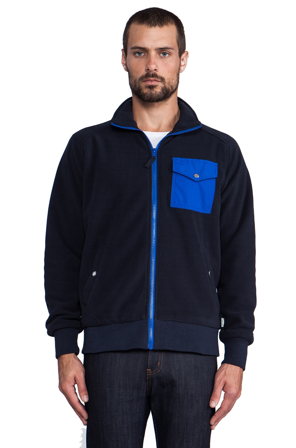 Penfield Capulin Fleece Jacket in Navy