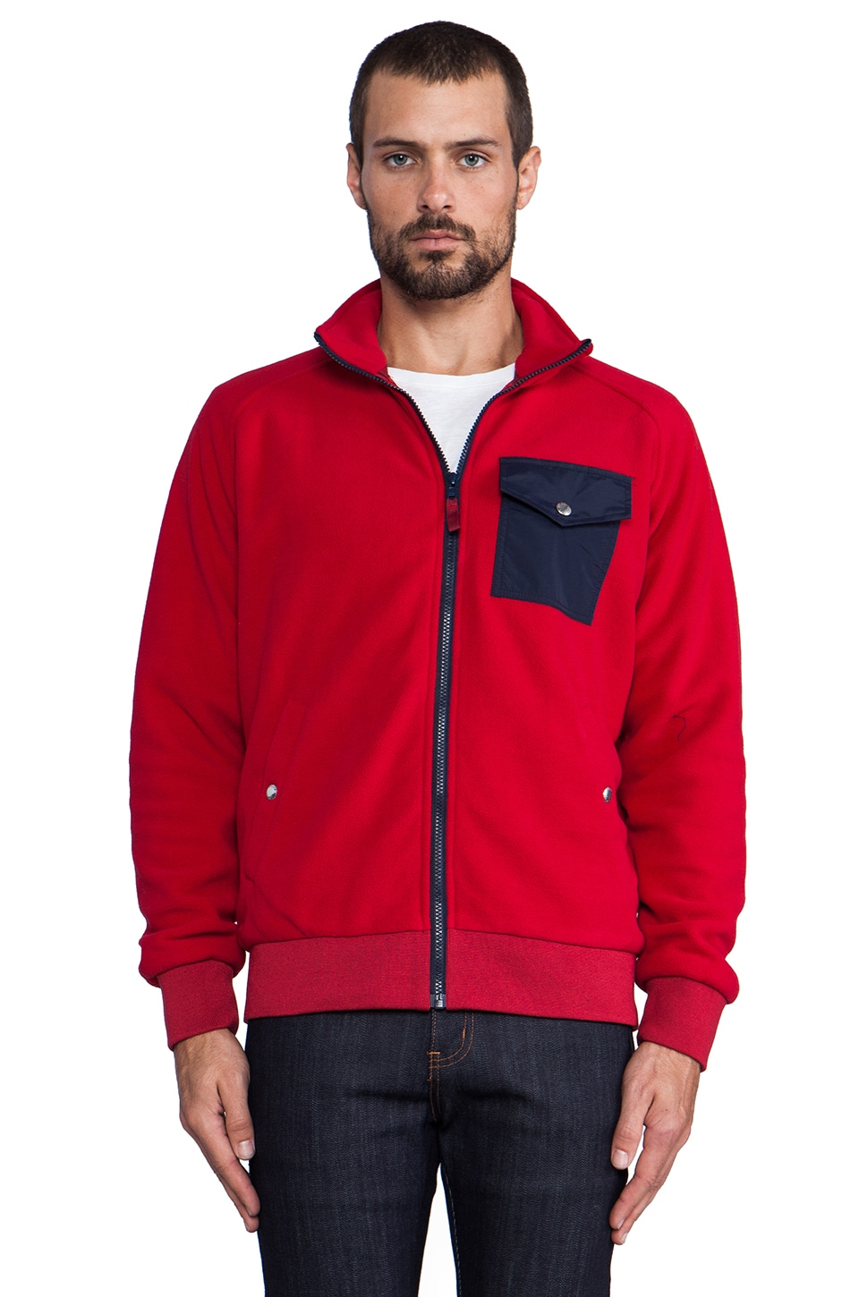 Penfield Capulin Fleece Jacket in Red