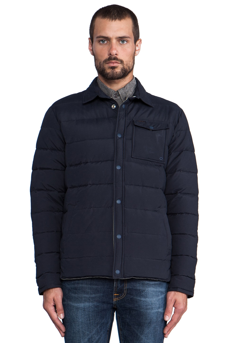 Penfield Eska Down Shirt Jacket in Navy