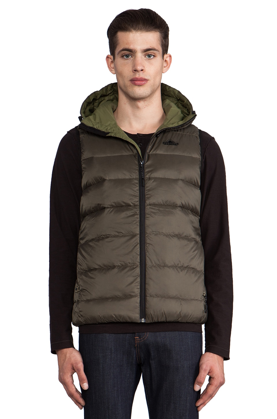 Penfield Chinook Packable Down Vest in Olive