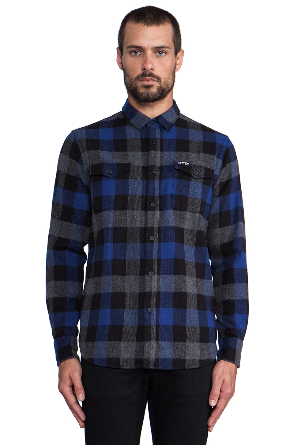 Penfield Chatham Buffalo Plaid Shirt in Blue