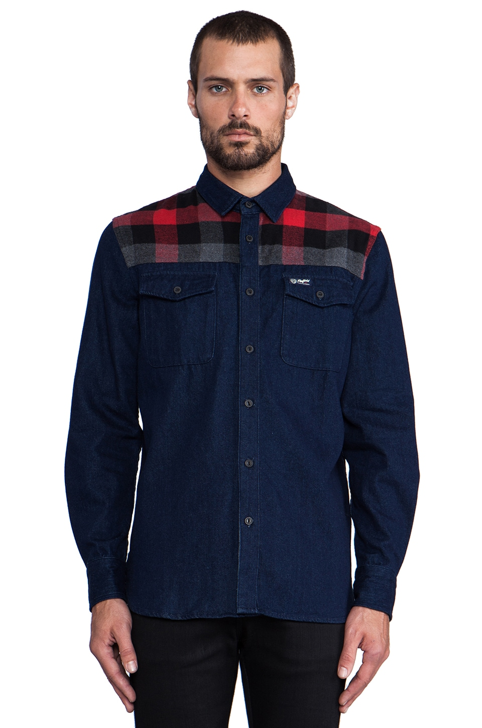 Penfield Wayland Denim Trail Shirt in Navy