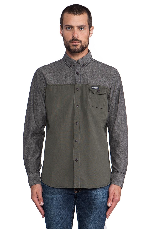 Penfield Westlock Color Block Shirt in Black