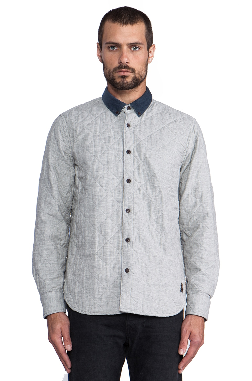 Penfield Harrison Quilted Shirt in Grey