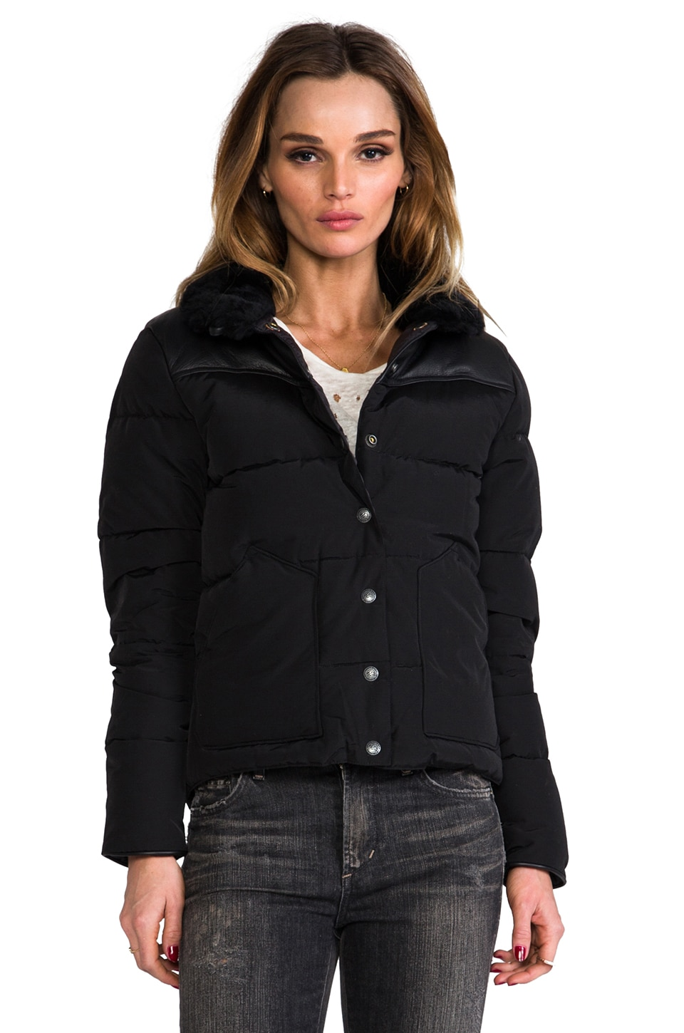 Penfield Rockwool Down Insulated Jacket in Black