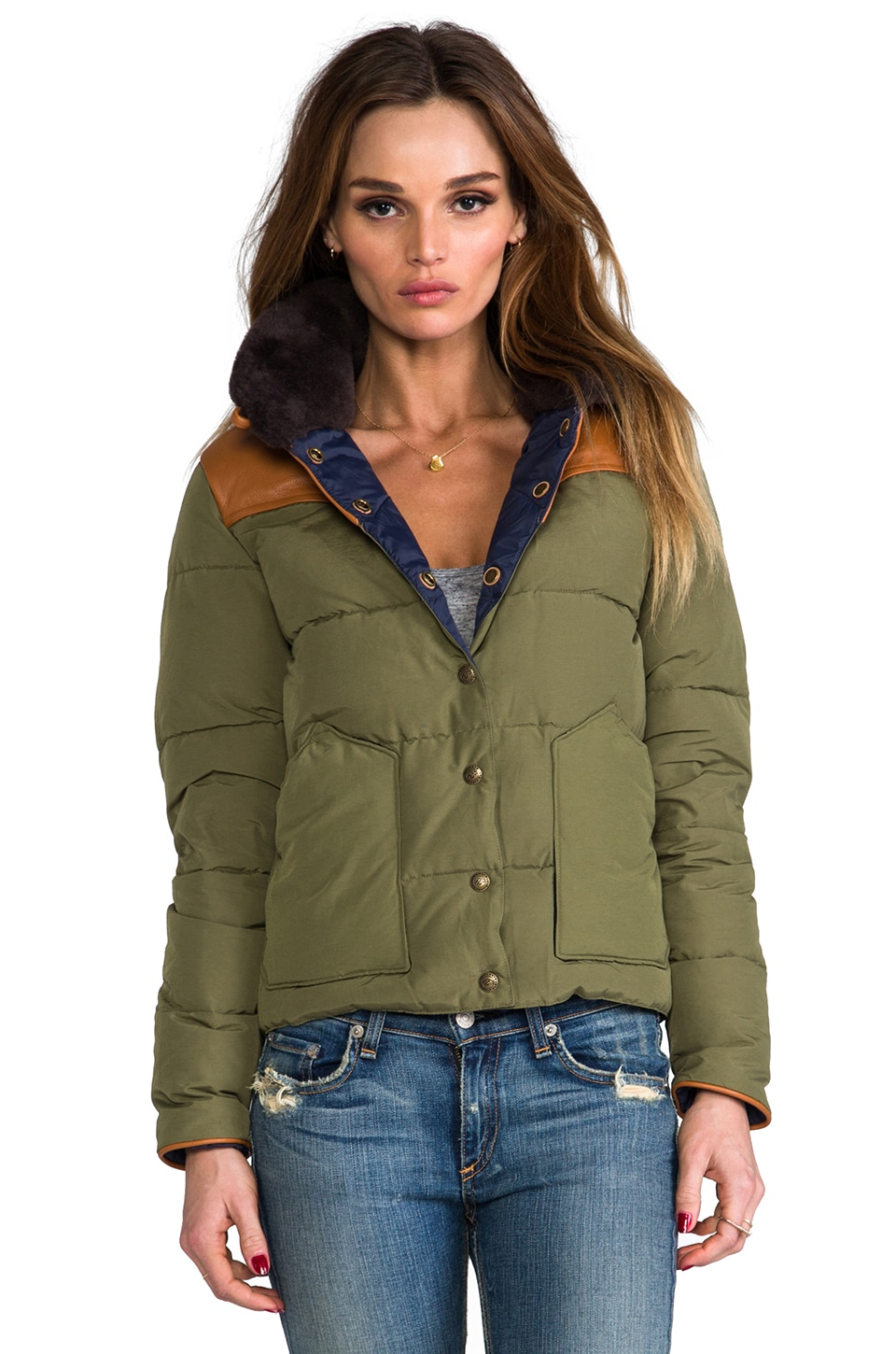 Penfield Rockwool Down Insulated Jacket in Olive