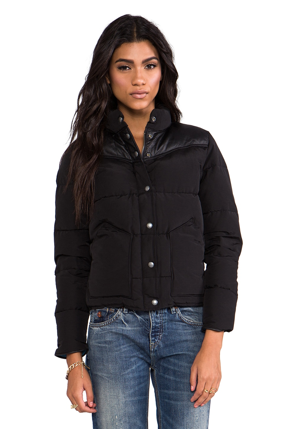 Penfield Blue Label Gillman Down Insulated Jacket in Black