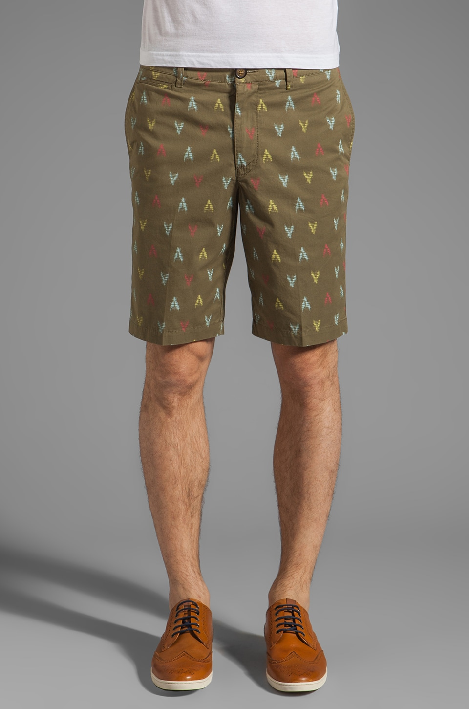 Penguin Ikat Print Short Margate Fit Short in Burnt Olive