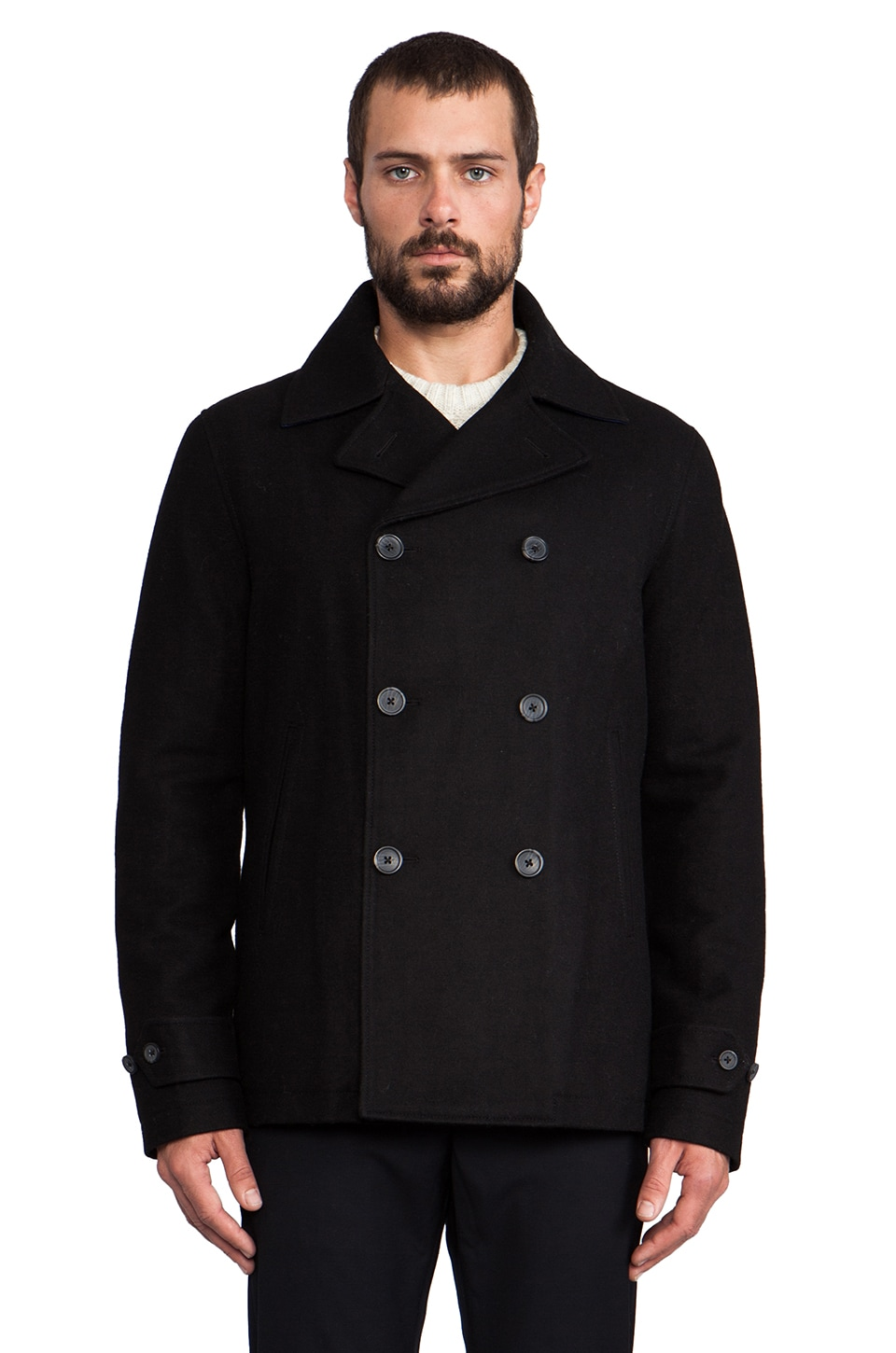 Penguin Peacoat in True Black