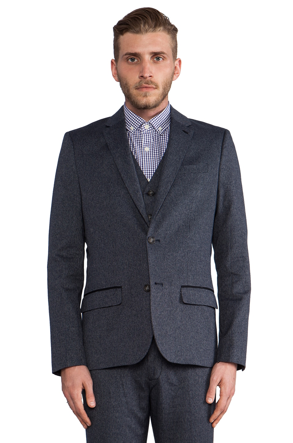 Penguin Suit Jacket in Dark Sapphire