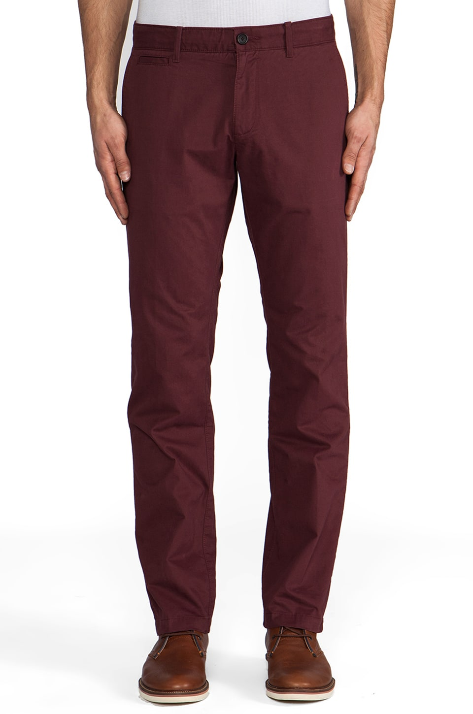 Penguin Straight Fit Chino in Vintage Merlot