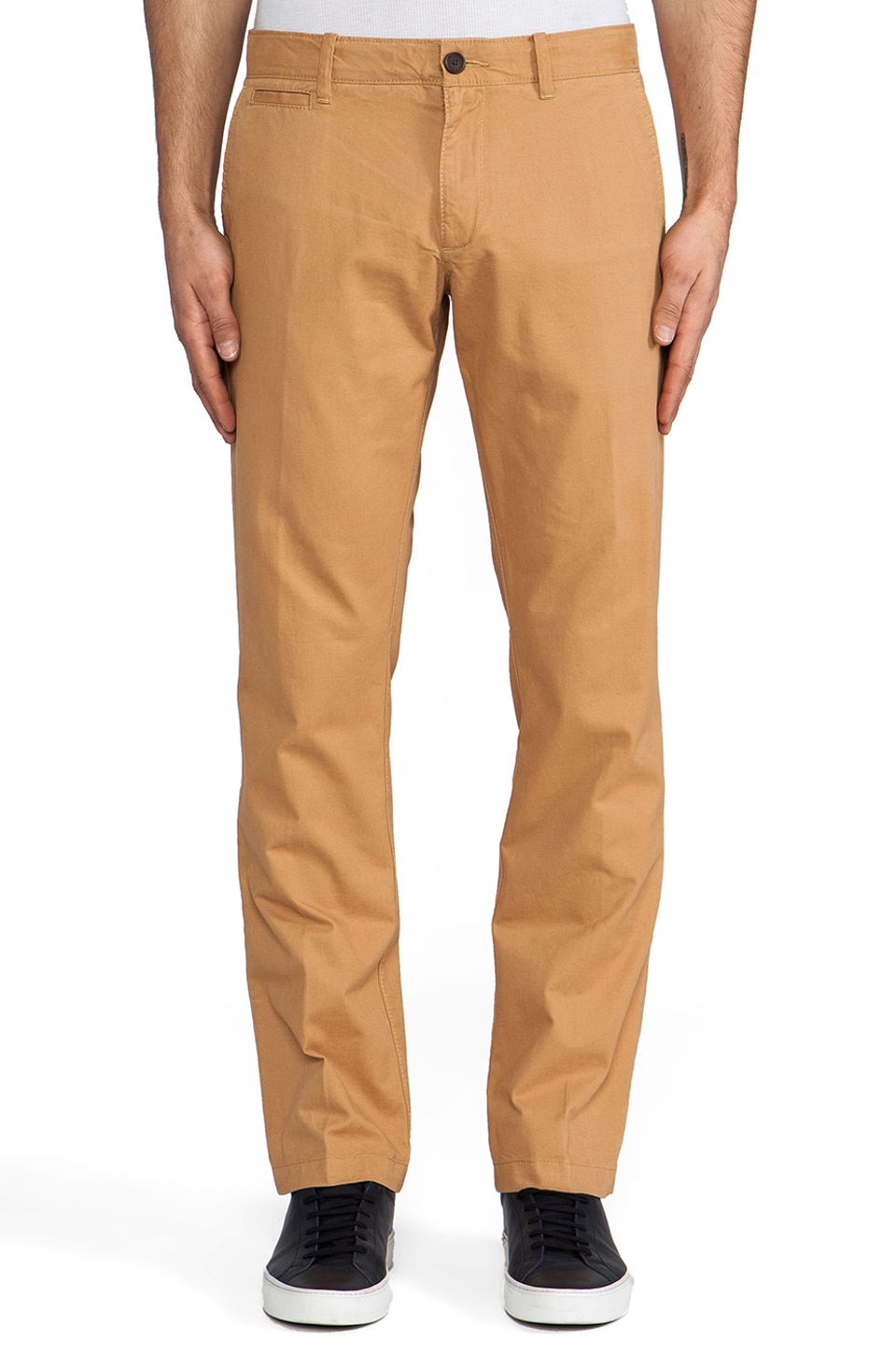 Penguin Straight Fit Chino in Golden Khaki