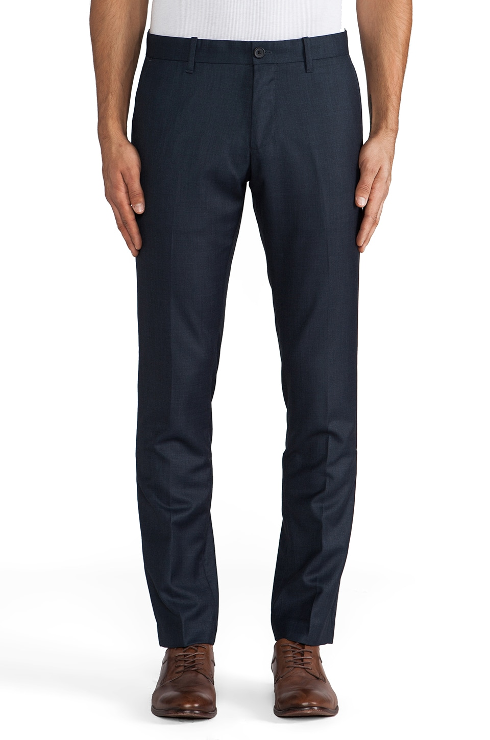 Penguin Heather Tailored Pant en Blue Teal