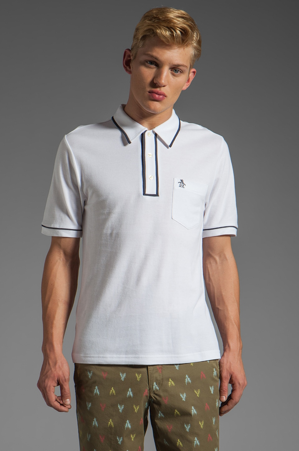 Penguin Earl Polo in Pure White