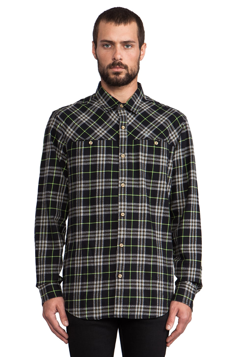 Penguin Flannel in True Black