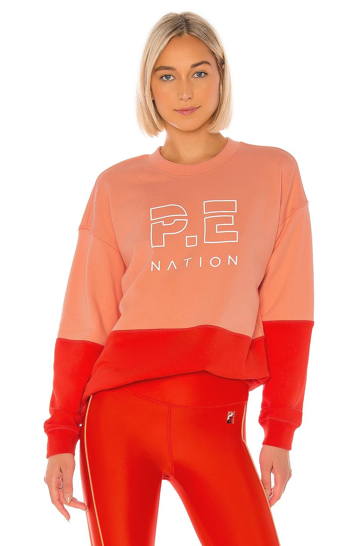 P.E Nation Money Short Sweatshirt in Red