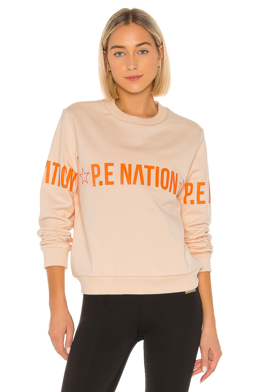 P.E Nation Exposure Sweatshirt in Butterwashed