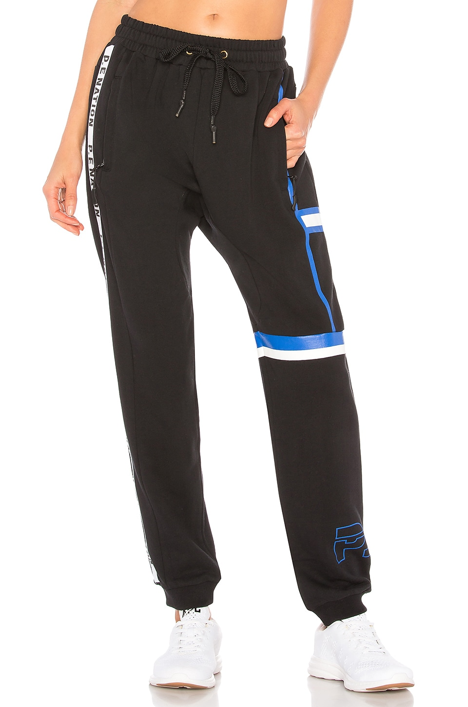 Rookie Printed Stretch-cotton Jersey Track Pants - Black P.E Nation Free Shipping 100% Guaranteed SlICYdRyj