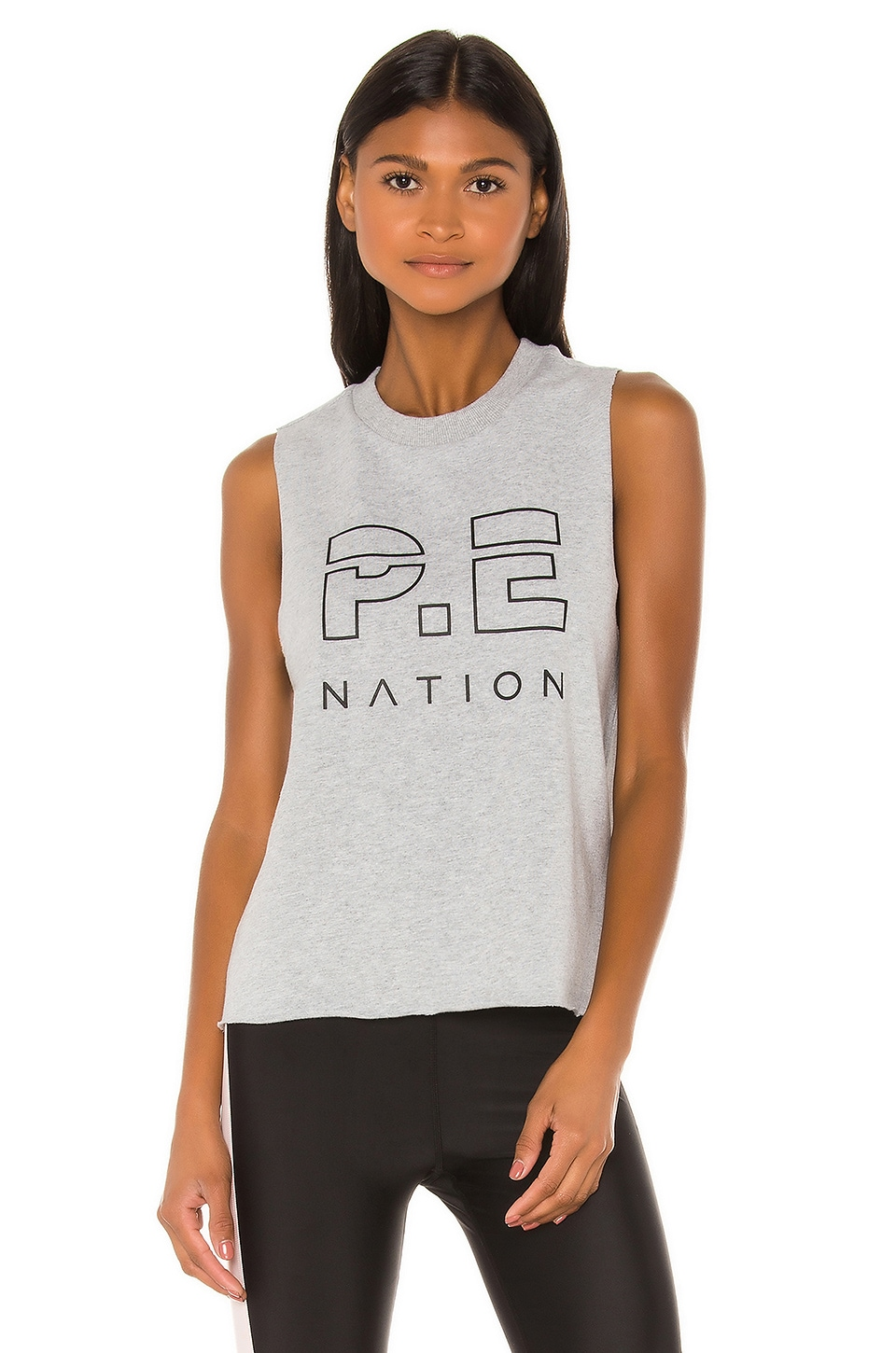 P.E Nation Throw In The Towel Tank in Grey Marl