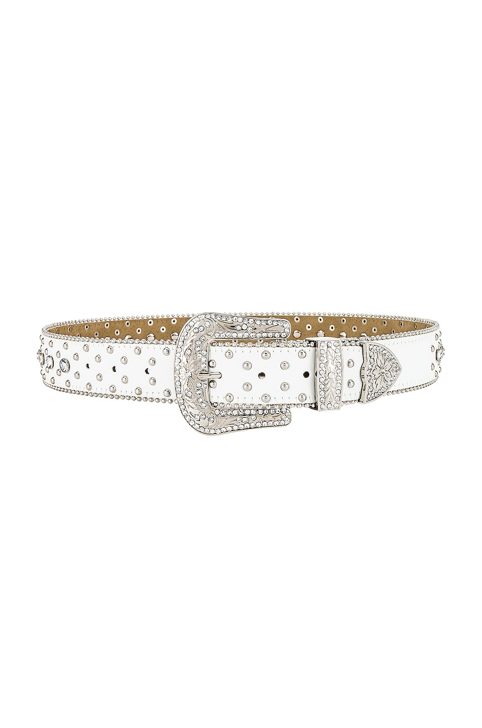 petit moments Rodeo Belt in White