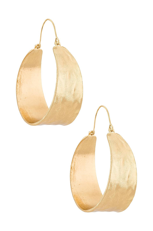 petit moments Terrain Hoop Earring in Gold