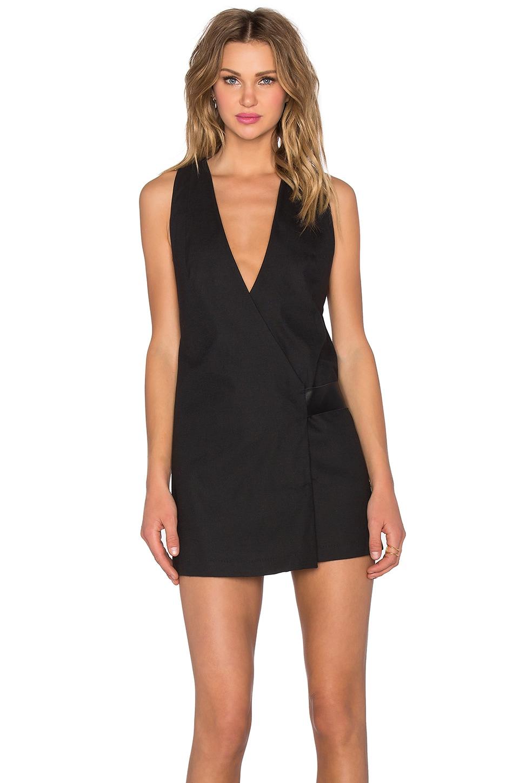 PFEIFFER Viper Wrap Dress in Black