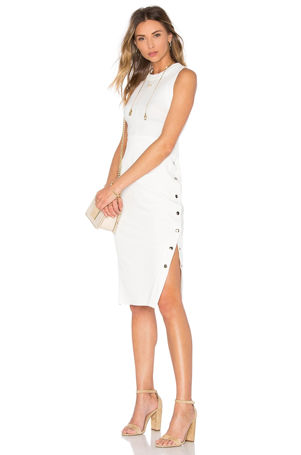 Erikson Studded Dress In Powder by PFEIFFER