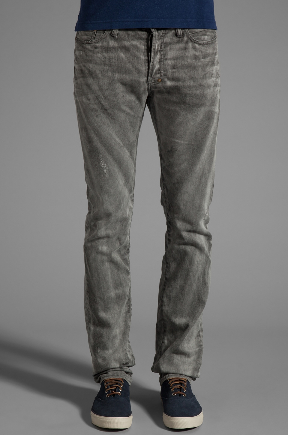 PRPS Goods & Co. Grey Wash Jean in Grey