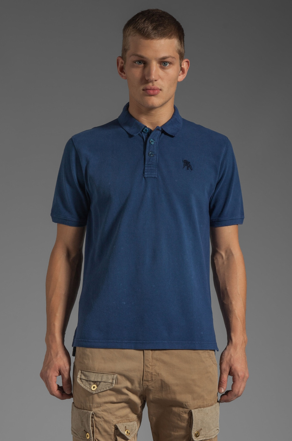PRPS Goods & Co. Basic Polo in Dark Blue