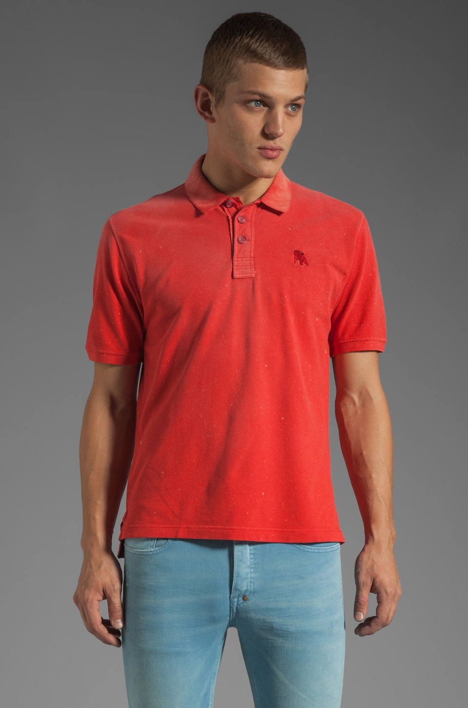 PRPS Goods & Co. Basic Polo in Red