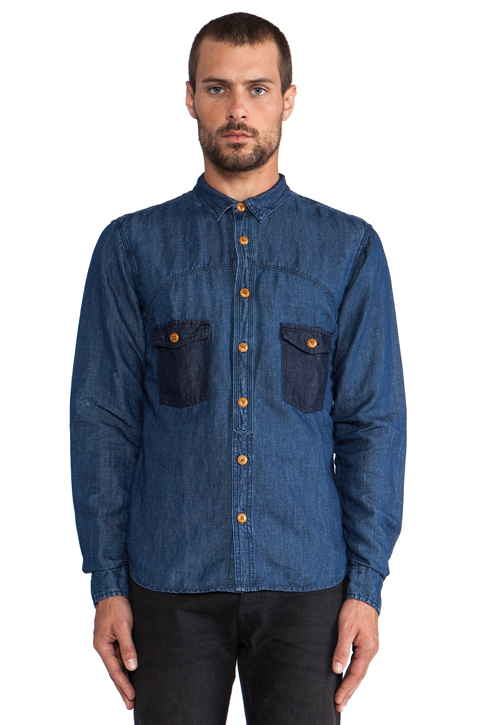 PRPS Goods & Co. Chambray in Indigo