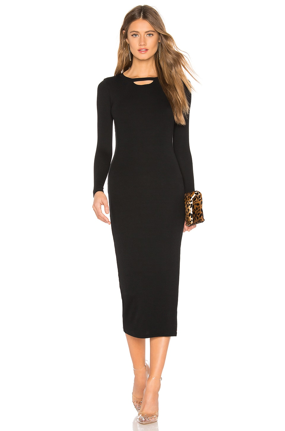 N:philanthropy N:PHILANTHROPY ATHENS MIDI DRESS IN BLACK.