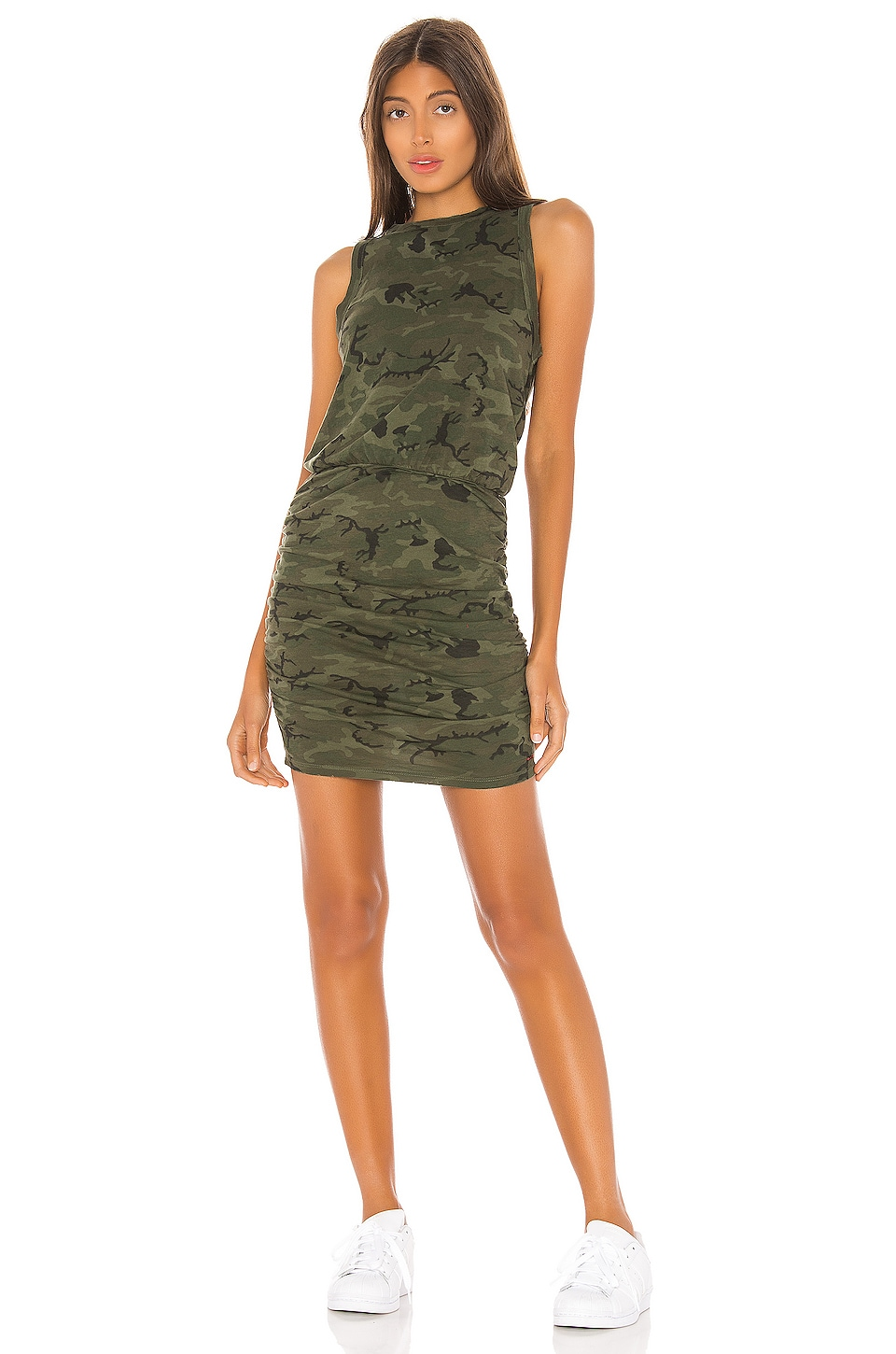 n:philanthropy Majorica Mini Dress in Moss Multi Camo