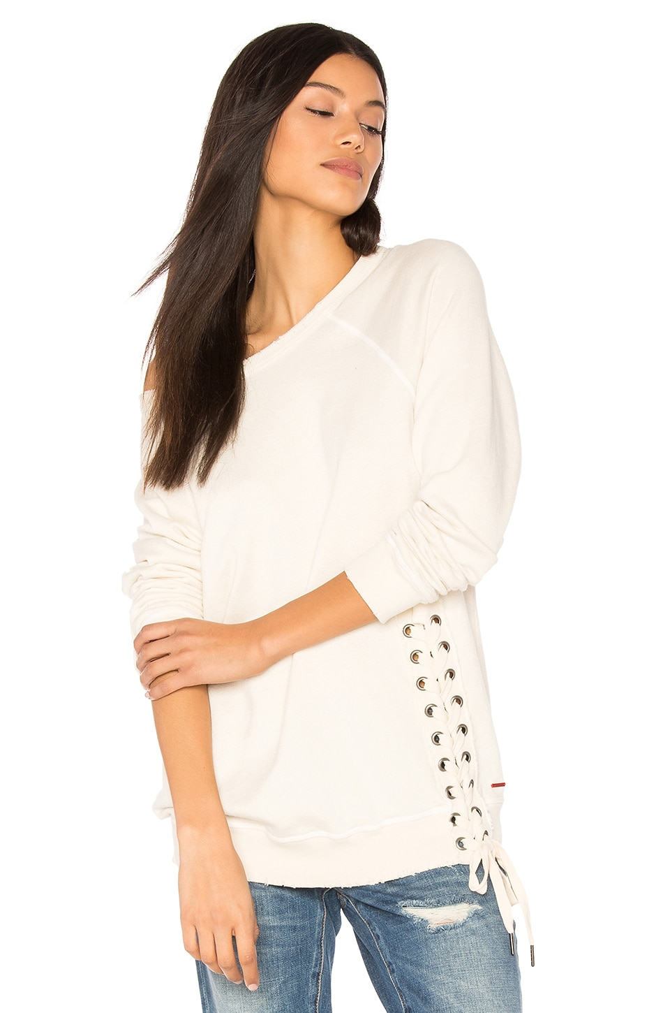 Mika Lace Up Sweatshirt by n:PHILANTHROPY