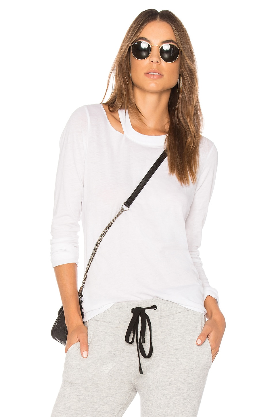 n:philanthropy Alexa Long Sleeve Top in White