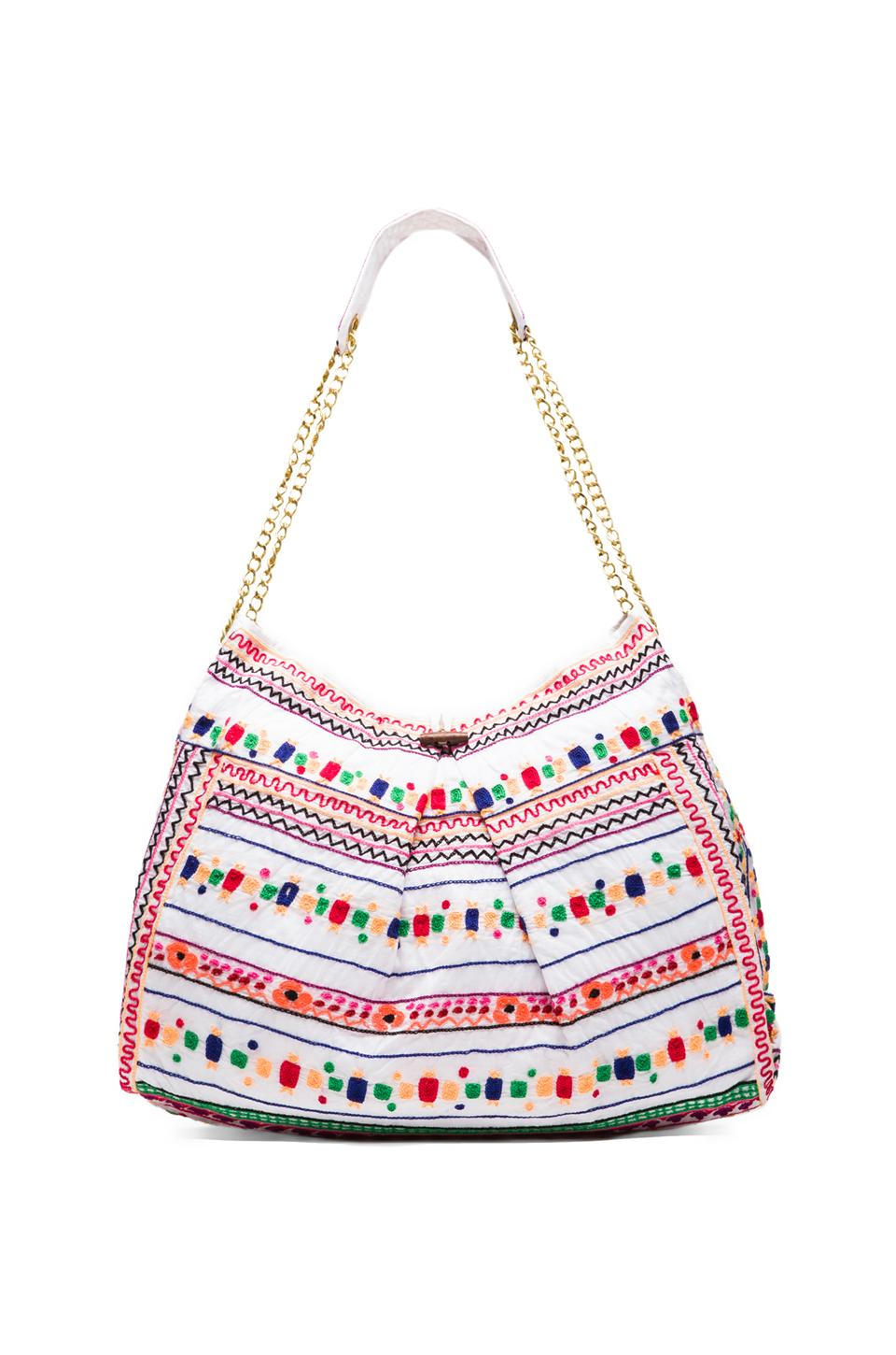Pia Pauro Embroidered Bag in White